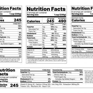 NUTRITION ANALYSIS & NUTRITION FACTS LABELING